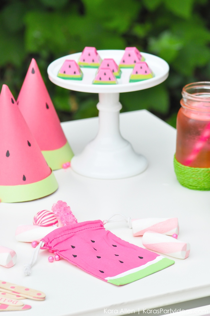 Watermelon-themed-DIY-birthday-party-by-Karas-Party-Ideas-Kara-Allen-KarasPartyIdeas.com-MichaelsMakers-Youre-one-in-a-melon_-64