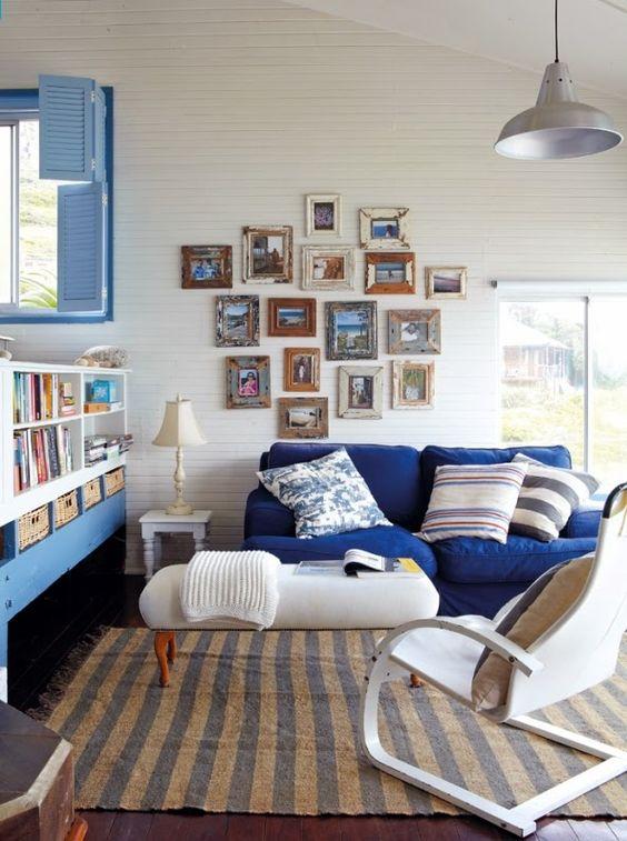 Azul serenidad en decoración