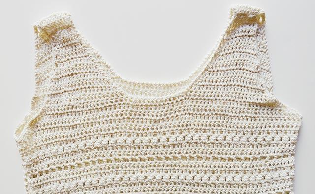 CAL camiseta de ganchillo con Yellow Knit