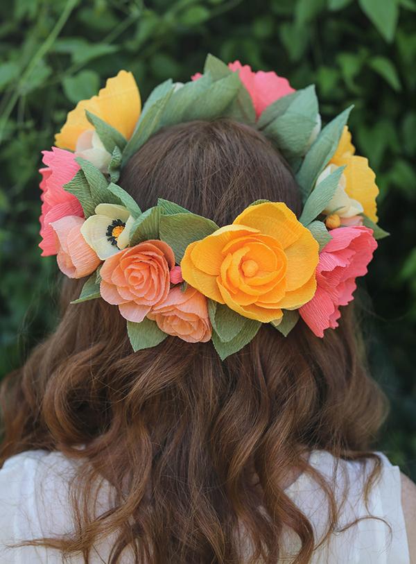 corona-flores-papel-diy