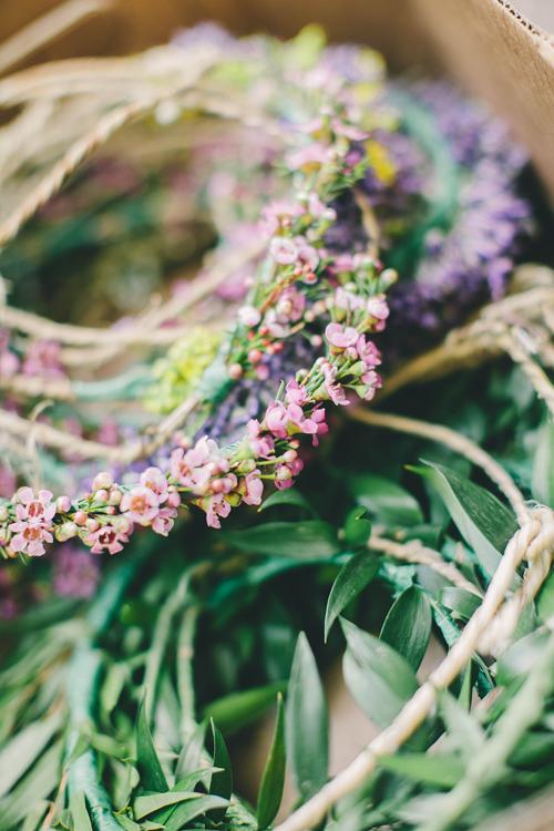 coronas con hojas