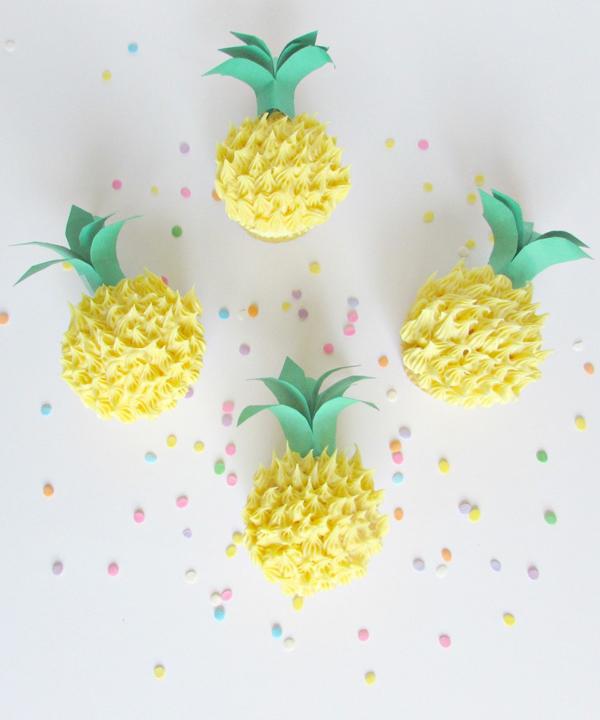 cupcakes-decoracion-pina-diy
