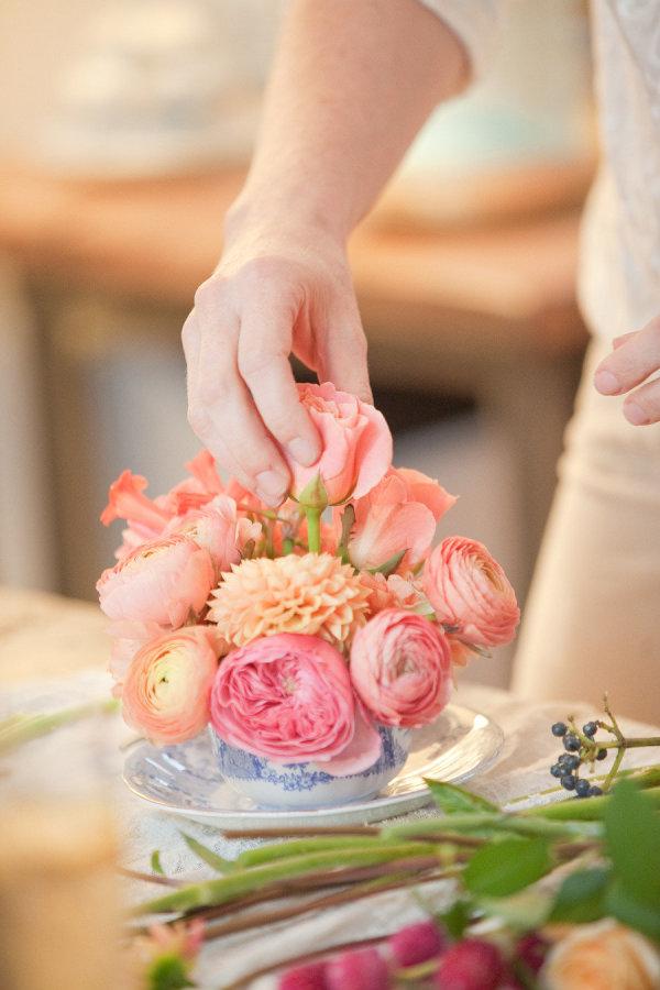 flores taza