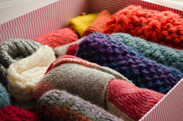 Mi siempre creciente colección de prendas tejidas