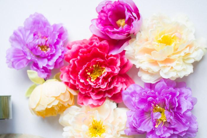 Sombrero flores diy