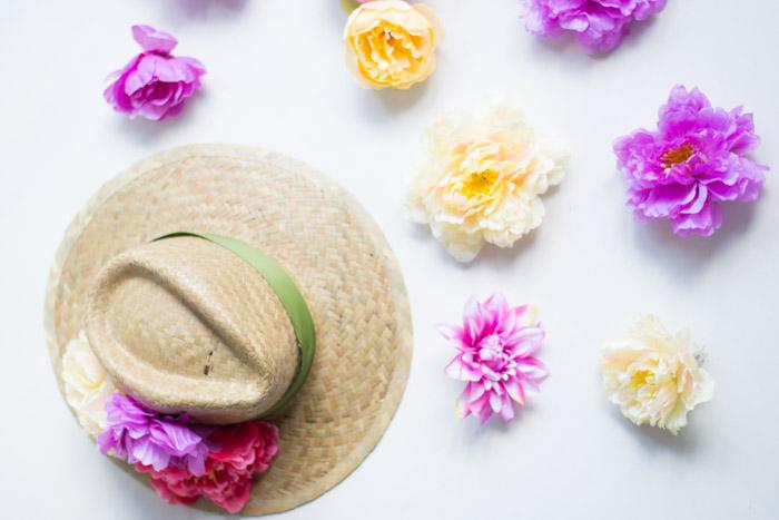 Sombrero flores diy - Handbox Craft Lovers | Comunidad DIY ...