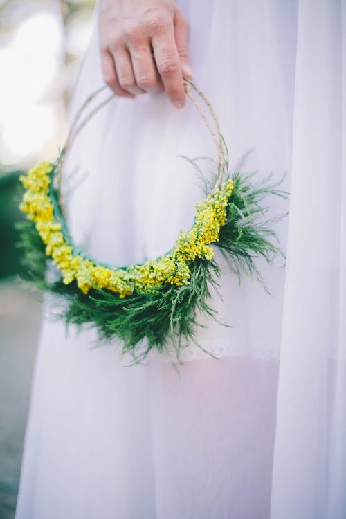 una corona primaveral