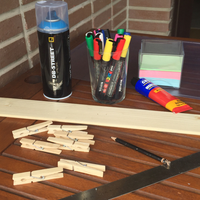 01. calendario semanal de madera para pared  - materiales