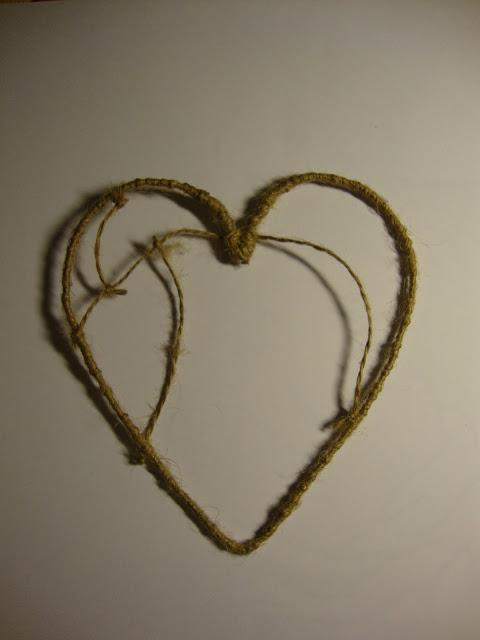Corazón forrado ya con la cuerda