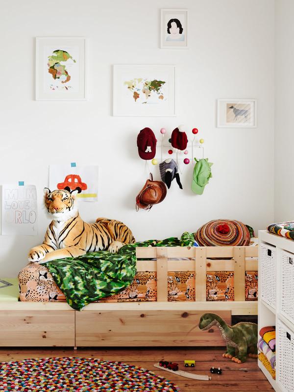 Decoración alegre para dormitorio infantiles