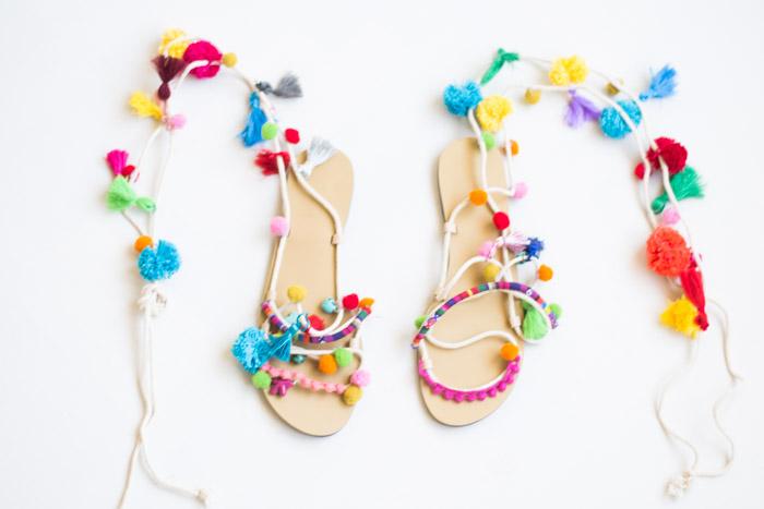 Como hacer unas sandalias hippies