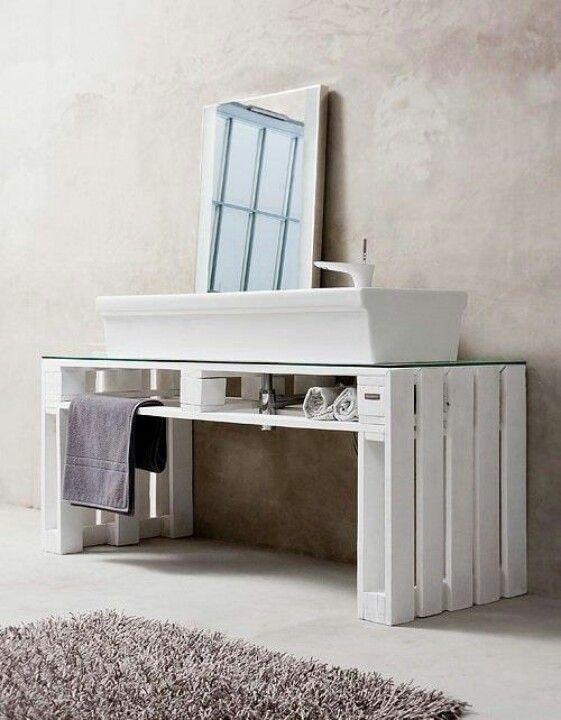 Muebles de palets - Mueble de lavabo
