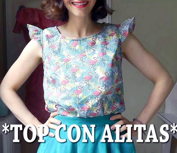 COSTURAS de VERANO   TOP CON ALITAS