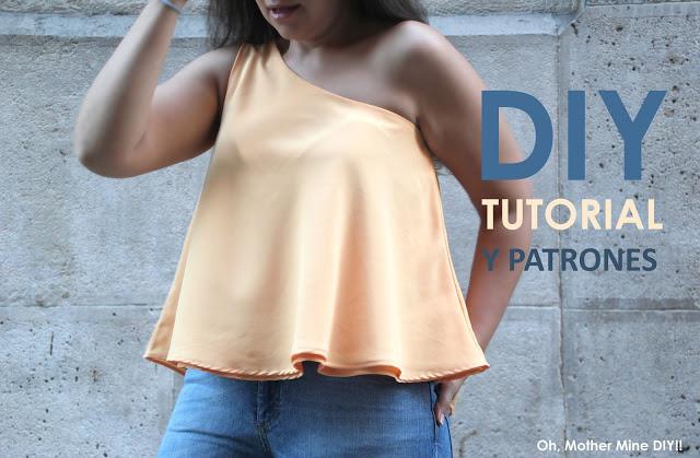 DIY Tutorial y patrones blusa asimétrica ... 1c031e58dc36e