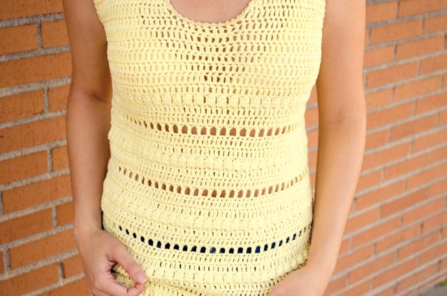 Camiseta de ganchillo CAL YellowKnit