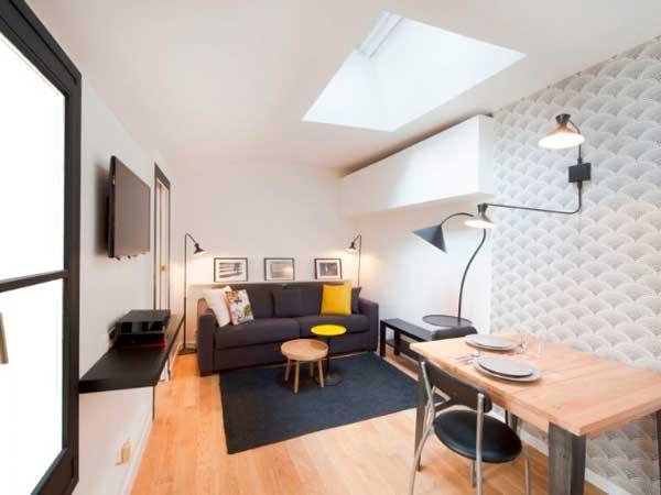 Decoración de un mini apartamento en París