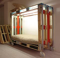 muebles de palets - litera de palets