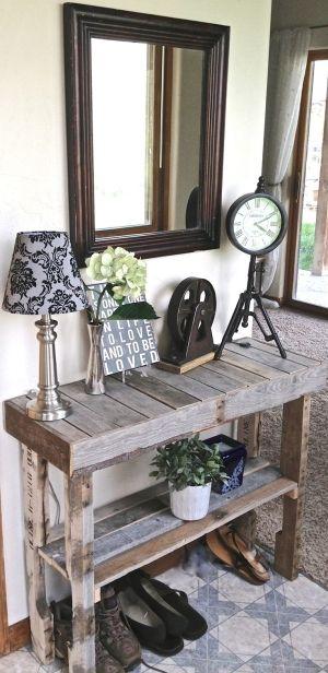 Muebles de palets - recibidores de palets