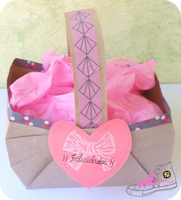 cesta de papel craft