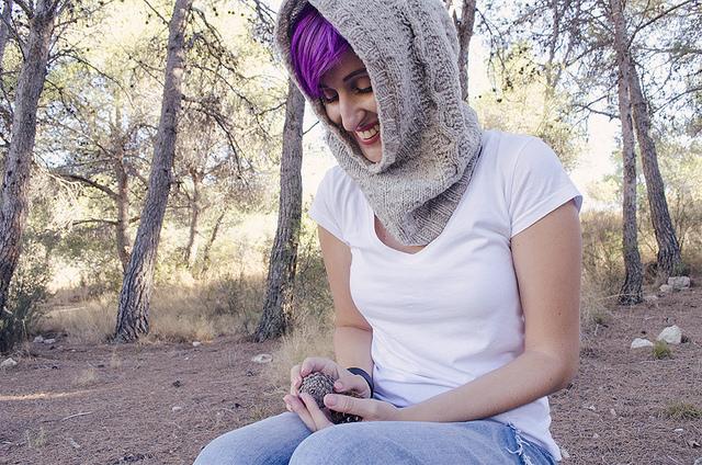 Skógur, cuello capucha en kit para tejer