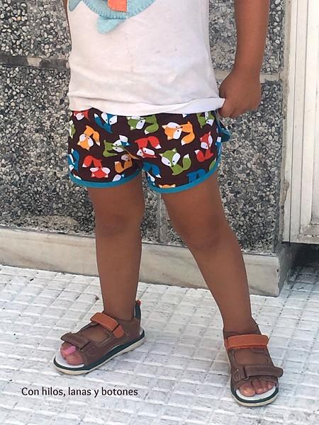 Con hilos, lanas y botones: City Gym Shorts | pantalones cortos para niños