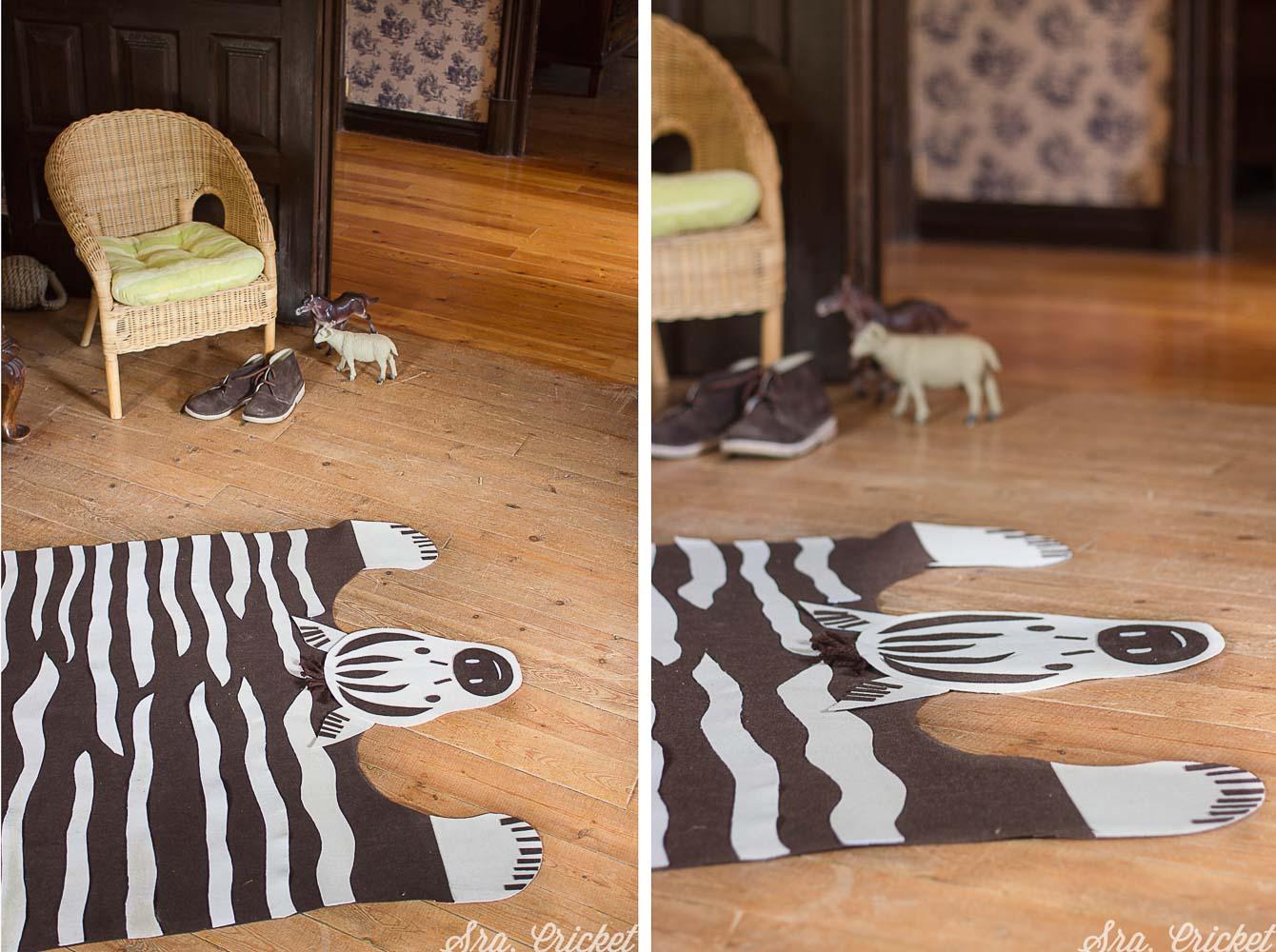 alfombra infantil hecha a mano diy
