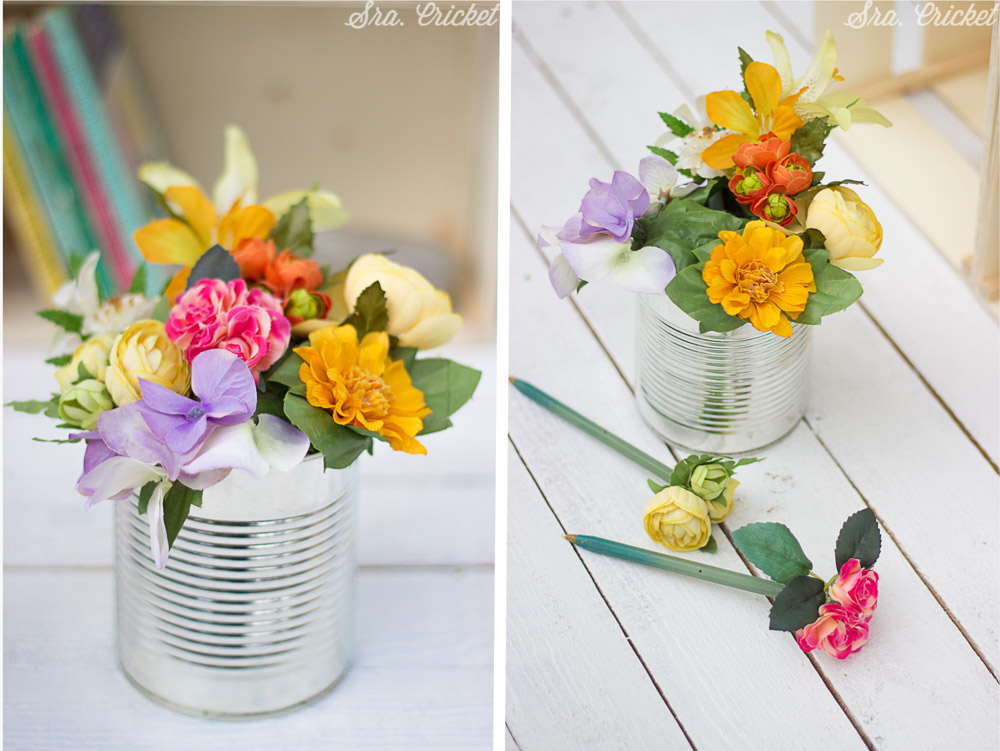 Flores Boligrafo Manualidad Para La Vuelta Al Cole Handbox Craft - Manualidades-con-flores-artificiales