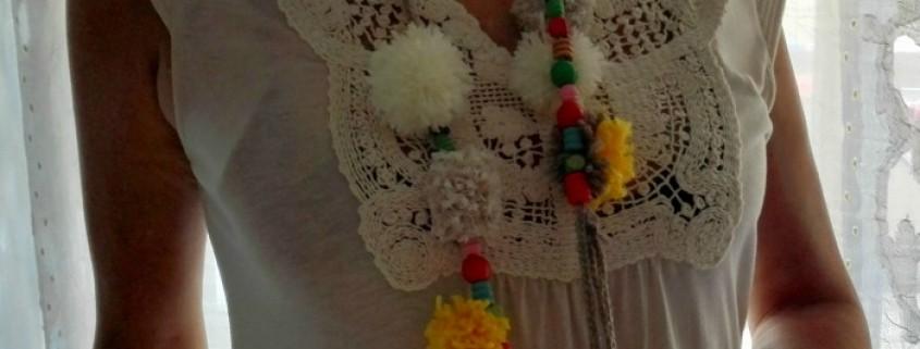 Diy collar de ganchillo, cuentas y pompones - Handbox Craft Lovers ...