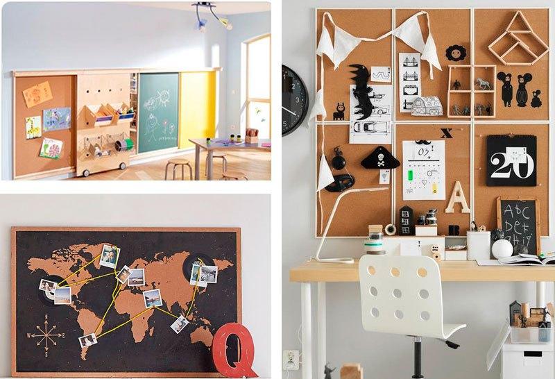 7 ideas de tableros de corcho para organizar la habitación de los ...