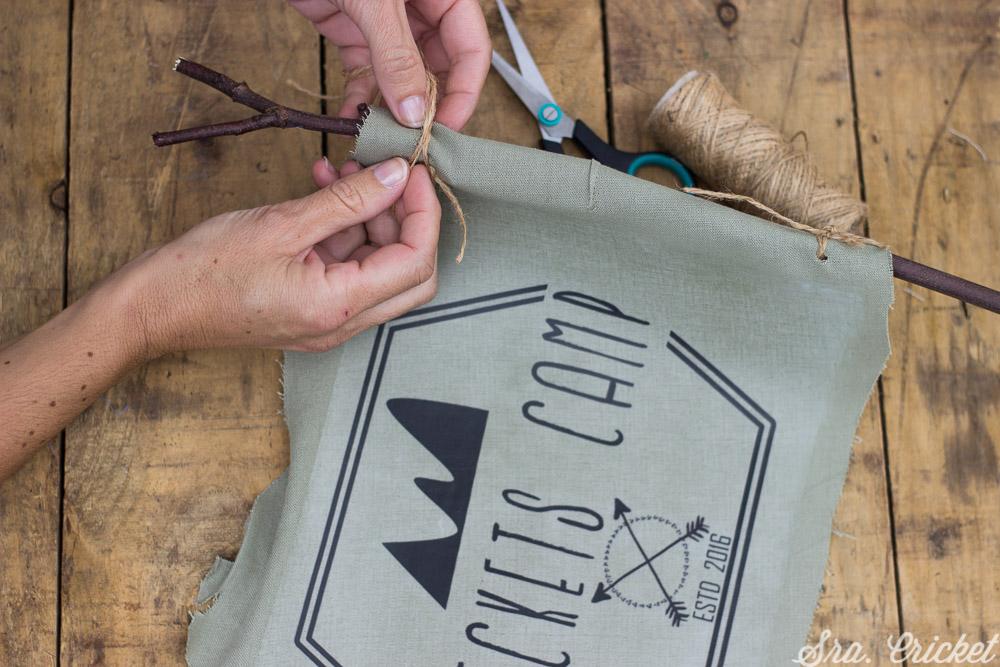 bandera campamento DIY