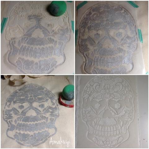 Tote-bag-calavera-plateada-DIY-tutorial
