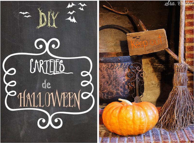 carteles de madera para halloween