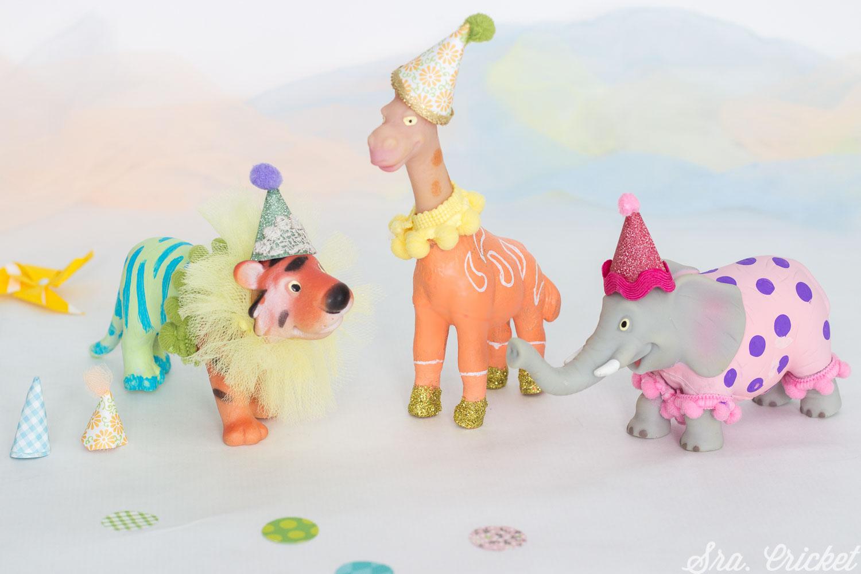 decorar tarta con animales