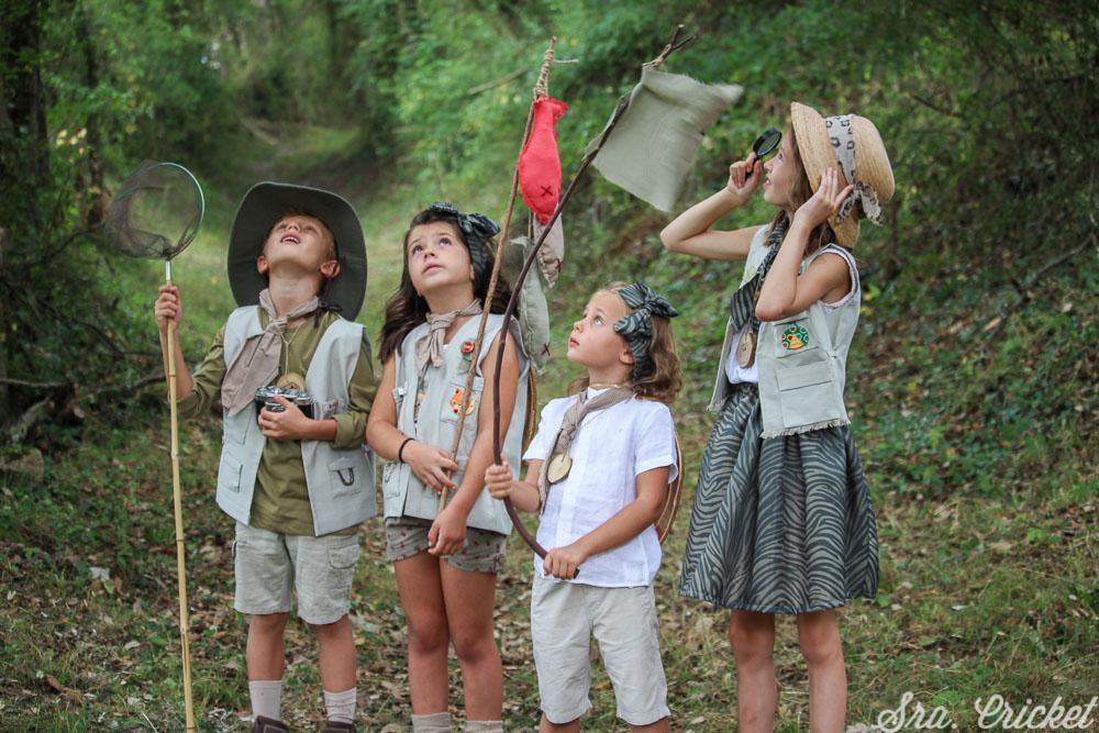 fiesta infantil de exploradores