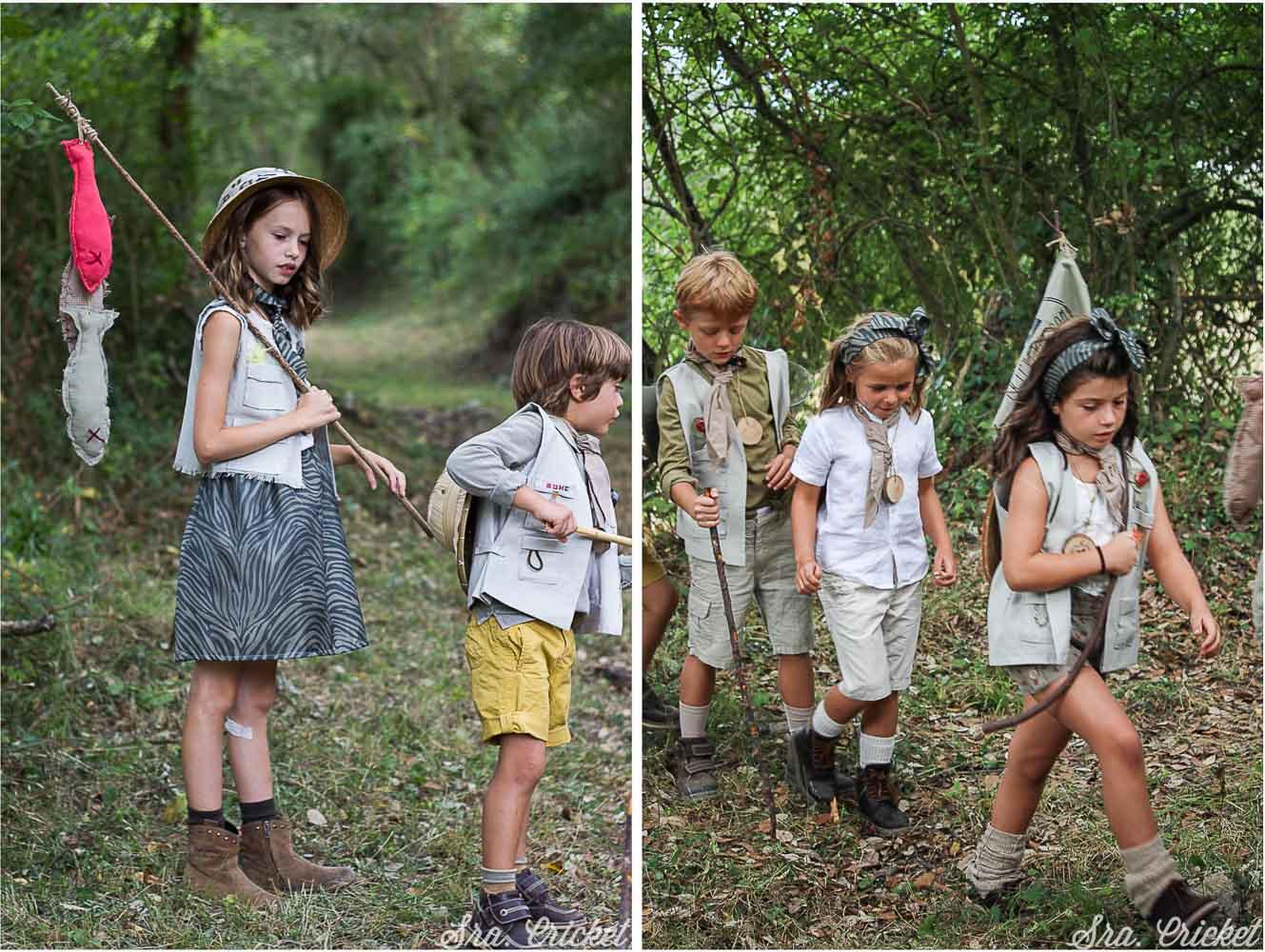 fiesta infantil disfraces exploradores