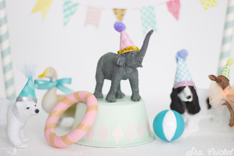 manualidades con niños pintar animales de juguete