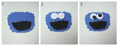 estos son los pasos para hacer la cabeza de Tricky,el monstruo de las galletas