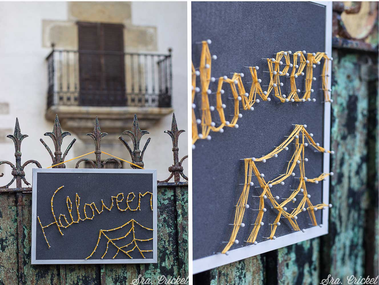 string art hilorama de halloween