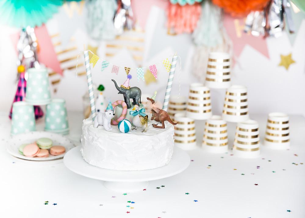 tarta infantil con animales