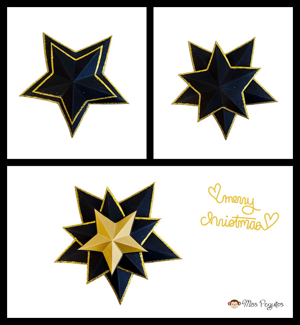 diy paper star estrella de papel