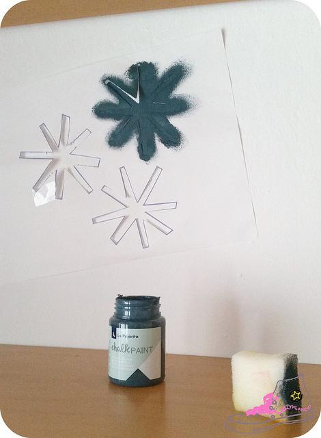 decorando con pintura chalk