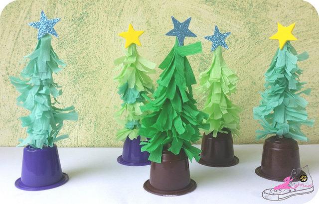 árboles de navidad papel