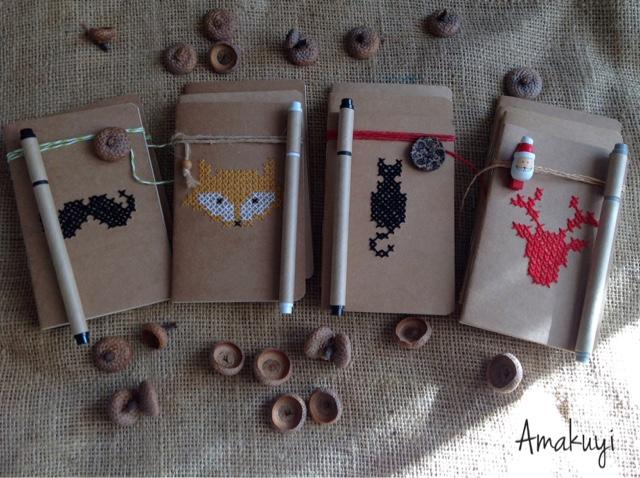 Libretas-kraft-detalles-handmade-Navidad-2016