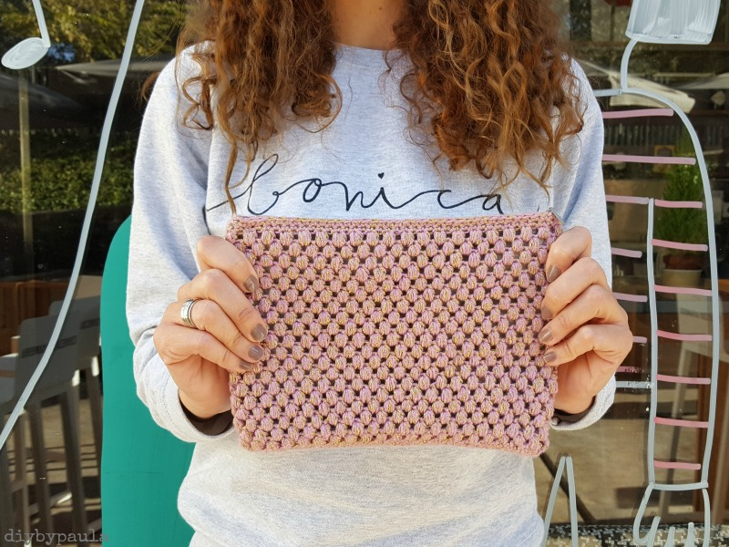 Bolso de ganchillo, con forro y cremallera - Handbox Craft Lovers ...