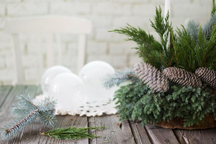 Centro de mesa navidad natural
