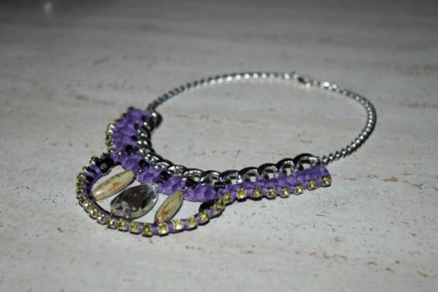 collar de moda strass