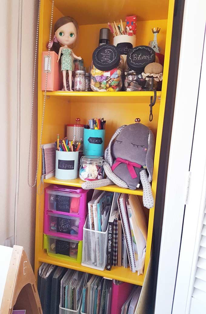 cuarto de costura nairamkitty estanteria