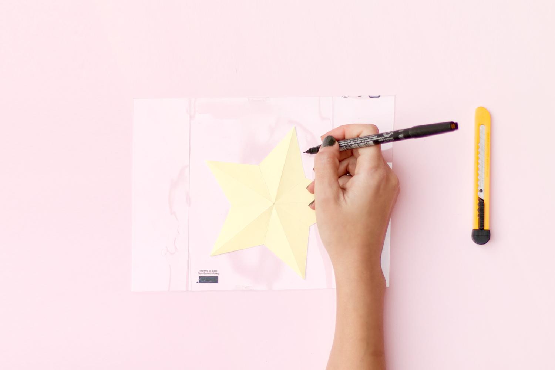 DIY estrellas faciles de plastico