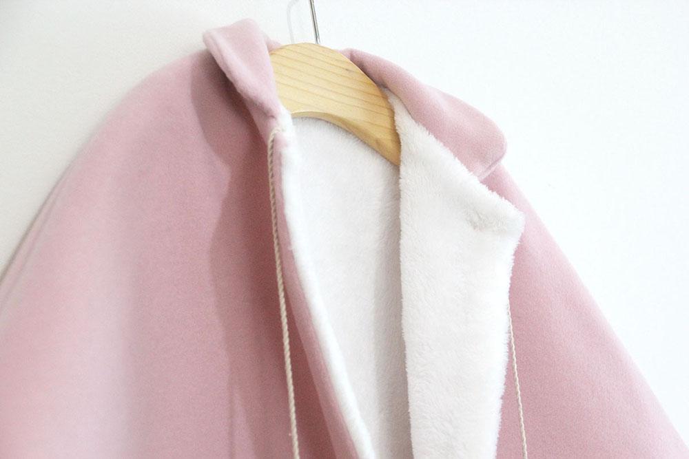 96914f8dd DIY Patrones gratis de abrigo tipo capa para niña - HANDBOX