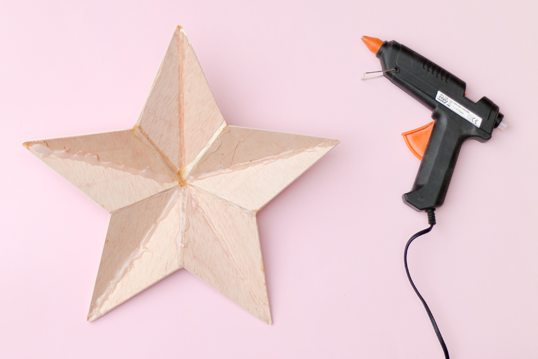 DIY estrella de madera